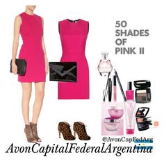 """50 Shades of Pink"" by avon-capital-federal-argentina ❤ liked on Polyvore featuring мода, Victoria Beckham, Graphic Image, Avon, women's clothing, women's fashion, women, female, woman и misses"