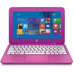 """HP 11.6"""" Stream Laptop PC with Intel Celeron Processor, 2GB Memory, 32GB Hard Drive, Windows 8.1 and Microsoft Office 365 Personal (1-yr subscription) (DVD/CD DRIVE NOT INCLUDED) - Walmart.com"""