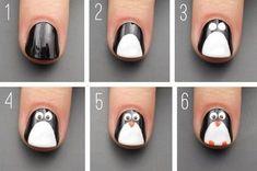 21 paso a paso que te convertirá en un experto en decoración de uñas - Uñas infantiles - Pretty Nail Art, Cute Nail Art, Easy Nail Art, Cute Nails, Pink Nail Art, New Nail Art, Stylish Nails, Trendy Nails, Penguin Nails