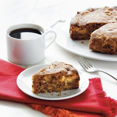 Double Apple Cake | If you're an apple lover, look no further for dessert than this tasty cake recipe. With only 1 to 1/2 hours in the slow cooker, this apple cake is the perfect, mouth-watering treat.