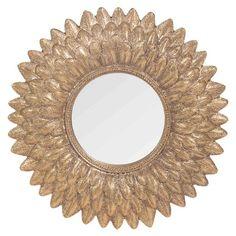 Specchio rotondo dorato H 22 cm MONTAUK