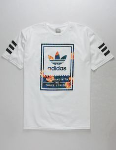 ADIDAS Classic Sweet Leaf Mens T-Shirt - WHITE - 319570150. T-shirts  MasculinasCamisetas ... 23af0c96fbd72