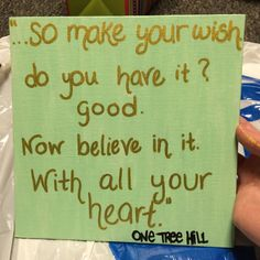 Canvas with One Tree Hill quote