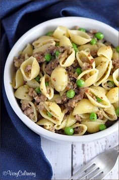 Sausage and Pea Pasta, this looks so fresh and light, a perfect summer weeknight meal, food, dinner