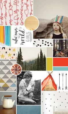 Bold and Bright Baby + Mood Board // colorful nursury or child's room for the brave and daring kid | CAROLE + ELLIE