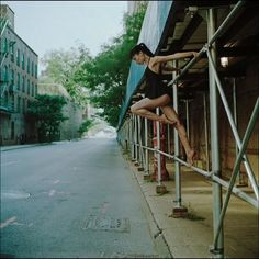 #throwbackthursday image of me circa 2009 by photographer Dane Shitagi of @ballerinaproject_! This shoot was inspired by music of one of my favorite artists @pj_harvey. #tbt #ballerinaproject #throwback #DUMBO #Brooklyn #summer #americanapparel #dress #ballet #ballerina #balletdancer #pointe #point #pointeshoes #Capezio #scaffolding #street #sidewalk #dance #dancer #strength #passé #nyc #newyorkcity #newyork #exploring #pjharvey #blackheartedlove #indierock by alexandrajacob