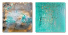 64inch Prints for Bathroom Turquoise and Gold Prints for
