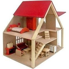 Como Fazer Casinha de Boneca Mais Wooden Dollhouse, Diy Dollhouse, Dollhouse Bookcase, Popsicle Stick Houses, Hamster House, Toy House, Barbie House, Miniature Furniture, Wood Toys