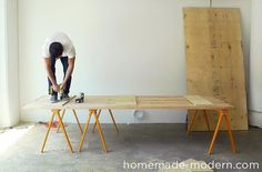 EP Conference Table HomeMadeModerncom House Ideas - Homemade conference table