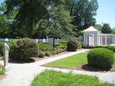 The gardens at the Leak-Wall House, Rockingham North Carolina. Perfect setting for an outdoor wedding!
