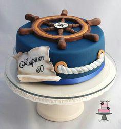 Cake for a sea captain. Surprise Grooms cake for Chuckis? Nautical Birthday Cakes, Nautical Cake, Birthday Cakes For Men, Themed Birthday Cakes, Themed Cakes, Men Birthday, Nautical Wedding, Nautical Theme, Birthday Cake Ideas For Adults Men