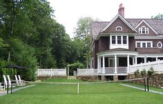Alisberg Parker Architects / New Residences / Shingle Style, Greenwich, CT Outdoor Spaces, Outdoor Living, Porches, Tennis Pictures, My Dream Home, Dream Homes, Back Gardens, Landscape Design, Beautiful Homes