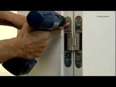 TECTUS® Concealed Hinge Installaton - YouTube Concealed Door Hinges, Hidden Door Hinges, Wall Storage, Door Ideas, Three Dimensional, Hardware, Exterior, House Design, Doors