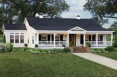 ranch style home Best Ranch House / Barn Home / Farmhouse Floor Plans . ranch style home Modular Home Floor Plans, House Floor Plans, Brick Ranch House Plans, Ranch Farm House, Ranch Style Floor Plans, House Plans With Porches, White Ranch Style House, Houses With Front Porches, Wrap Around Porches