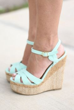cb102f663c0 Perfect mint wedges for spring and summer wear. Easy to mix and match with  any outfit! 4 Hats and Frugal
