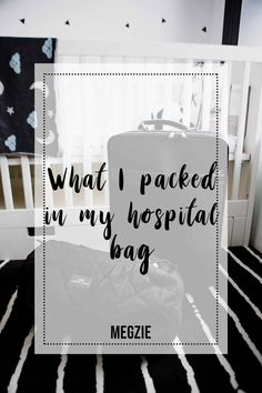 Detailed hospital bag checklist for expecting mothers. Free printable!