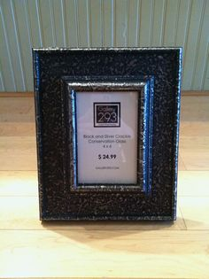 4 x 6 Custom Picture Frame  Black and Silver Crackle by Gallery293, $24.99