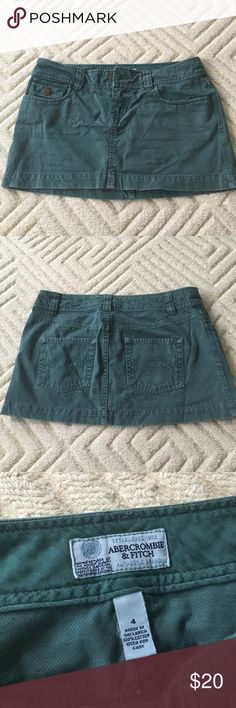 Abercrombie and Fitch teal green mini skirt Abercrombie and Fitch teal denim mini skirt. Great condition! Abercrombie & Fitch Skirts Mini