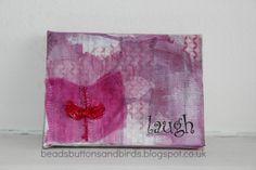 beads buttons & birds: 'laugh'