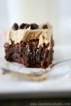 Fudgy Brownies with Cookie Butter Frosting