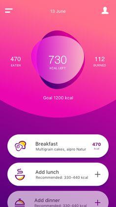 """Ama Fit"" (Fitness & Nutrition App) designed by Alexa Pleiko-Izik for Awsmd. Data Visualization Design, Mobile Design, Web Design, Nutrition App, Website Design, Digital Design, User Interface, App Design, Android App Development"
