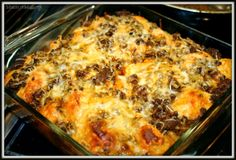 Bubble Up Taco Casserole - uses grands corn biscuits