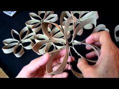 Flor de Rolo de Papel Higiênico