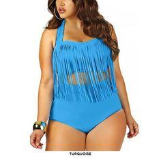 Plus Size Fashion Fringe Bikini - Assorted Colors at 68% Savings off Retail!