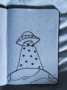 drawings doodles drawing easy space doodle alien simple sad hipster sketches рисунки легкие journal inspo sketchbook wanderer things grunge aliens