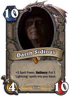 Star Wars Hearthstone Cards