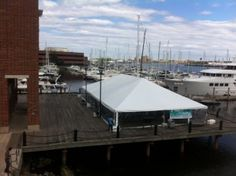 Tented Event on Ocean Pier #sailboatsontheharbor