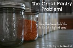 The Great Pantry Problem: Where to store those canned goods when you run out of room!