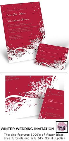 Winter Wedding Invitations so lovely for a holiday wedding invite. #Weddings #WeddingInvitations