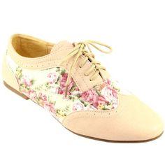 8cc7fe0481a4 Womens Floral Lace Up Brogue Shoes  Amazon.co.uk  Shoes   Bags