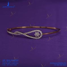 Gold Bracelets : 'touch of rose gold finish bracelets.' Get In Touch With us on Sharing is caring, don't forget to vote for this Bracelets Diamond Necklace Set, Diamond Bangle, Diamond Jewellery, Kate Spade Rings, Gold Bangles, Bangle Bracelets, Ladies Bracelet, Gold Necklaces, Gold Ring