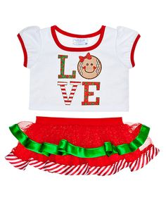 Love Gingerbread Skirt Outfit 2 pc. | Build-A-Bear Workshop