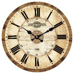 "Horloge murale, Samuel Vernon, 12"""