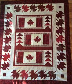 Quilt of Valour Canadian Quilts, Quilts Canada, Flag Quilt, Quilt Of Valor, American Quilt, Quilted Wall Hangings, Kona Cotton, Quilting Projects, Quilt Patterns