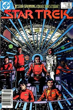 DC Comics of the 1984 - Anatomy of a cover - Star Trek George Perez Star Trek 1, Dc Comics, Dc Comic Books, Comic Book Covers, Deep Space Nine, George Perez, Star Trek Movies, Batman, Star Trek Universe