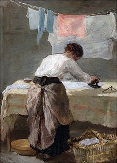 Armand Désiré Gautier (French, 1825-1894) Woman Ironing, Musee des Beaux