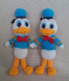 #crochet, free pattern, amigurumi, stuffed toy, Donald Duck ~ Zan Crochet, #haken, gratis patroon (Engels), eend, knuffel, speelgoed, kraamcadeau, #haakpatroon
