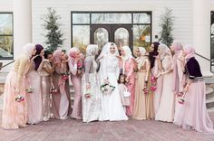 "805 Likes, 14 Comments - Hoda Abrahim (@watshoodie) on Instagram: ""Feelin all the love ❤ PC: @apsari #squad #bridesmaids #hijab #hijabfashion #marriage…"""