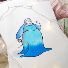Baymax as Elsa