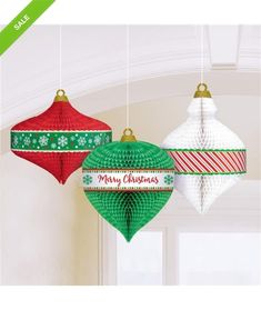 Kerst honeycombs - J-style-deco Christmas Decorations, Christmas Ornaments, Holiday Decor, Open A Party, Party Expert, Christmas Bedding, Hanging Ornaments, Hanging Decorations, Style Deco