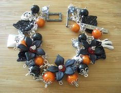 Halloween Samhain Bracelet Hedgewitch Pagan. $20.00, via Etsy.