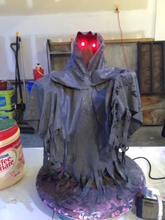 Yep, another reaper. I'm using a modified version of monster mud on this one and used multiple LED colors for effect.