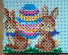 Easter bunnies hama beads by deco.kdo.nat