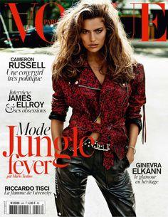 Fashion Foie Gras: Cameron Russell rocks out for Vogue Paris April 2014 cover
