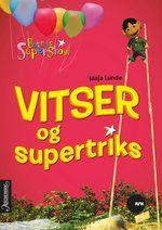 Barnas Supershow er tull og tøys og moro, det vet alle barn i Norge som har sett på NRK Super på lørdager. Nå er de beste vitsene, gåtene, quizene og supertriksene fra tv-programmet samlet mellom to permer. Som en ekstrabonus kan du lese om Oldemor, som tuller mer enn det som er vanlig for en dame på hennes alder, og hvordan Prompeenglene lurer folk til å sette seg på prompeputa.