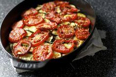 Zucchini tomato rice gratin